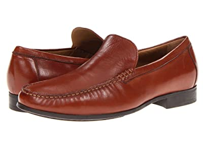 Johnston & Murphy Cresswell Dress Slip-On (Cognac Sheepskin) Men
