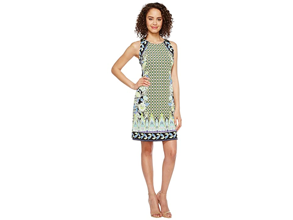 Hale Bob Sunshine Daze Microfiber Jersey Dress (Lime) Women