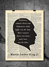 Martin Luther King Jr. - Quotes - Vintage Dictionary Print 8x10 inch Home Vintage Art Abstract Prints Wall Art for Home Decor Wall Decorations For Living Room Bedroom Office Ready-to-Frame
