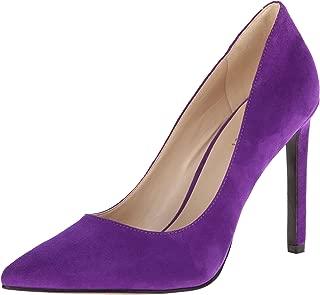 Nine West Womens Tatiana Suede Tatiana Leather Purple Size: 10.5