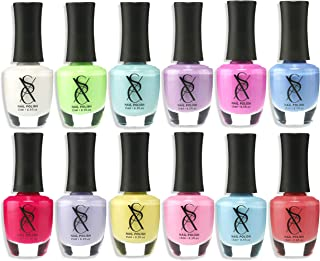 models own pastel nail polish set