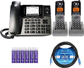 $209 » Motorola ML1002H (ML1000 x1, ML1200 x2) DECT 6.0 Expandable 4-Line Business Phone System with Digital Receptionist and Ans...
