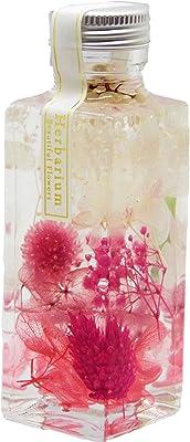 【Amazon.co.jp 限定】日本製ハーバリウム プリザーブドフラワーLira 高さ 12.5㎝ ギフト プレゼント (ピンク)