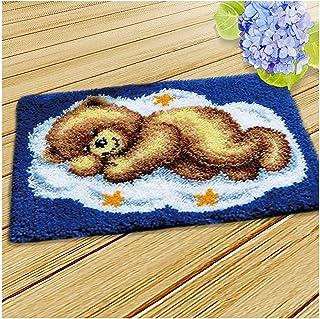 Kits De Fils Au Crochet DIY, Kits d'impression d'ours À Dormir Petits Tapis, Kits Crochet De Loquet De Tapis Crochet pour ...