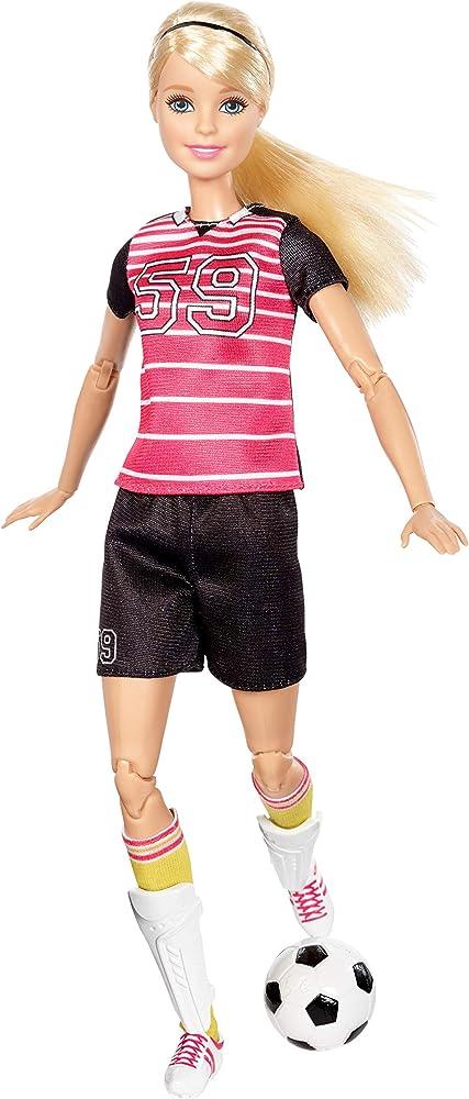 Barbie, bambola calciatrice, con 22 punti snodabili per infiniti movimenti DVF69