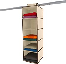 Moseeg Hanging Clothes Storage Box (5 Shelving Units) Durable Accessory Shelves - Eco- Friendly Closet Cubby, Sweater & Ha...