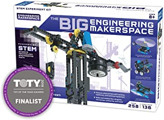 Thames & Kosmos Big Engineering Makerspace | Science Kit | 22 Physics Lessons & Experiments | Toy of The Year Award Finalist | Homeschool | Learning Pod | STEM Kit