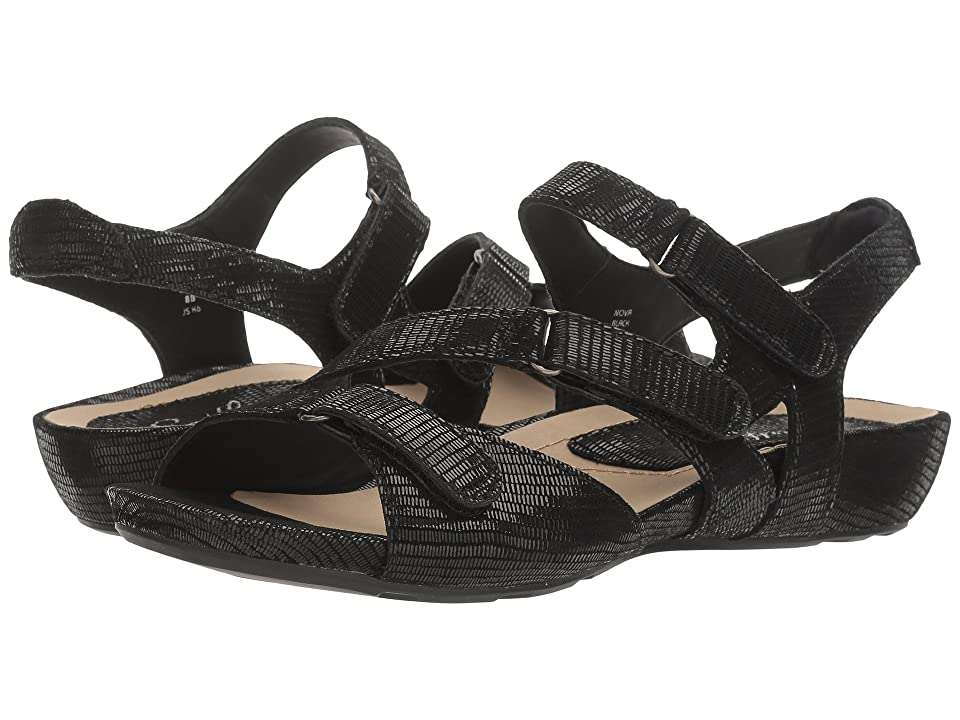 Earth Nova Earthies (Black Printed Suede) Women