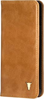 TORRO Premium Leather Case Compatible with Samsung Galaxy S10 Plus with Stand Function, Genuine USA Tan Leather Cover for S10 Plus- Tan