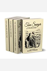 Tom Sawyer Collection - All Four Books (Illustrated + Audio links. Includes 'Adventures of Tom Sawyer,' 'Huckleberry Finn' ' + 2 more sequels) (English Edition) eBook Kindle