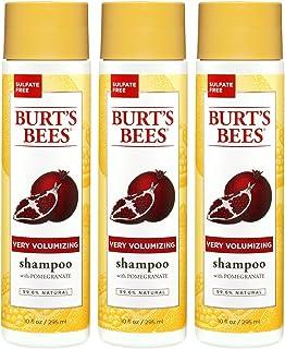 Burt's Bees Very Volumizing Pomegranate Shampoo, Sulfate-Free Shampoo - 10 Ounce Bottles - Pack of 3