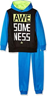 RBX Little Boys' Pullover Fleece Hoodie and Jogger Set, Blue Awesomeness, 4
