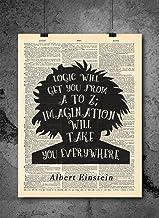 Albert Einstein Quote – Imagination – Vintage Dictionary Print 8×10 inch..