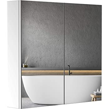 Stainless Steel Pre-assembled Bathroom Storage Cabinet 1000 x 550mm Wall Mounted