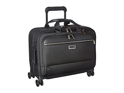 Briggs & Riley @work Large Spinner Brief (Black) Briefcase Bags