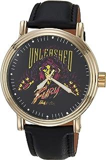 Disney Men's Villains Analog Quartz Watch with Patent Leather Strap, Black, 22 (Model: WDS000891)