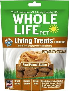 Whole Life Pet Living Treats USA Freeze Dried Peanut Butter Treats for Dogs