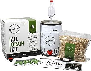 Brew & Share | Kit de bière IPA | Votre bière en 2 semaines. Élaboration avec des malts. Fermentation en fût. Matériaux ré...