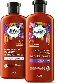 Herbal Essences Pack Herbal Essences Bíorenew Shampoo Y Acondicionador Bourbon & Manua Honey De 400ml, Pack of 1