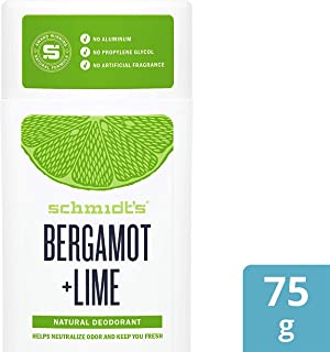 Schmidt's Natural Deodorant Stick Bergamot and Lime Pack of 2 Aluminum Free Vegan
