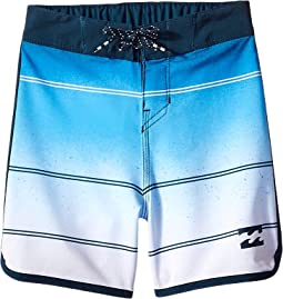 73 X Stripe Boardshorts (Big Kids)
