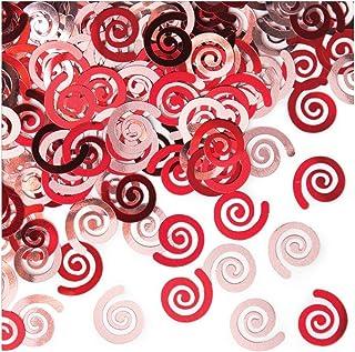 قصاصات زينة لطاولة حفلات الكنز المدفون من كرياتيف كونفينتينج، لون أحمر كلاسيكي