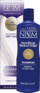NISIM NewHair BioFactors Shampoo for Normal To Dry Hair - Deep Cleaning Shampoo That Controls Excessive Hair Loss (8 Ounce / 240 Milliliter)