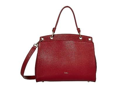 Furla Adele Medium Top-Handle (Ciliegia) Handbags