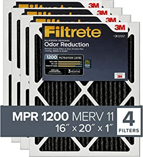 Filtrete MPR 1200 16x20x1 AC Furnace Air Filter, Allergen Defense Odor Reduction, 4-Pack