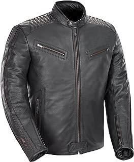 Joe Rocket Vintage Rocket Men's Leather Motorcycle Jacket (Black, X-Large)