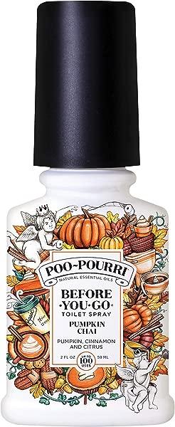 Poo Pourri Before You Go Toilet Spray Pumpkin Chai Scent 2 Oz