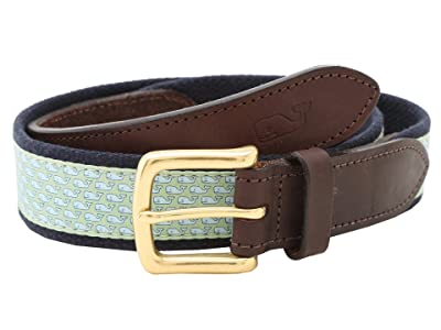 Vineyard Vines Vineyard Whale Canvas Club Belt (Green) Men