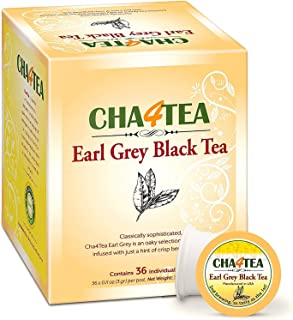 Cha4TEA 36-Count Earl Grey Tea Pods for Keurig K-Cup Brewers