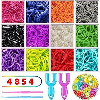 TM 41 Jelly Yellow Translucent 600 PCS 24 Clips Bands Refills for Loom Rainbow Bracelet Dress Making Kirinstores
