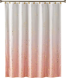 SKL Home by Saturday Knight Ltd. Splatter Fabric Shower Curtain, Pink