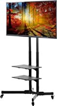 VIVO TV Cart for LCD LED Plasma Flat Panels Stand with Wheels Mobile fits 37