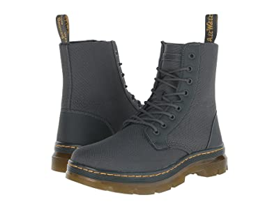 Dr. Martens Combs Fold Down Boot (Charcoal Extra Tough Nylon/Rubbery) Lace-up Boots