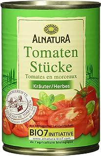 Alnatura Bio Tomatenstücke Kräuter, vegan, 12er Pack 12 x 400 ml
