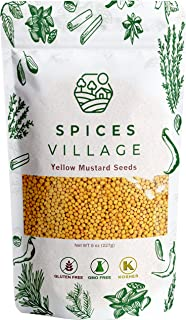 Spices Village Yellow Mustard Seeds - 8 Ounces Whole Seeds, All Natural & Dry Mustard Seasoning, Great for Culinary - Kosh...