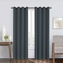 """Eclipse Round 52"""" x 95"""" Insulated Darkening Single Panel Grommet Top Window Treatment Living Room, 52x95, Forest"""