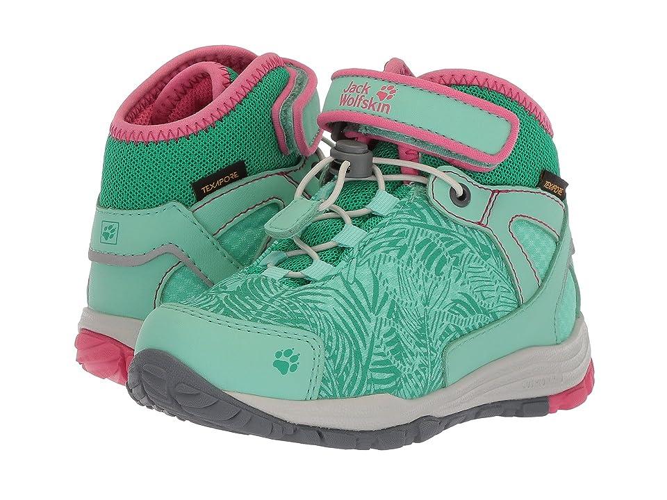 Jack Wolfskin Kids Portland Texapore Mid (Toddler/Little Kid/Big Kid) (Pale Mint) Kids Shoes