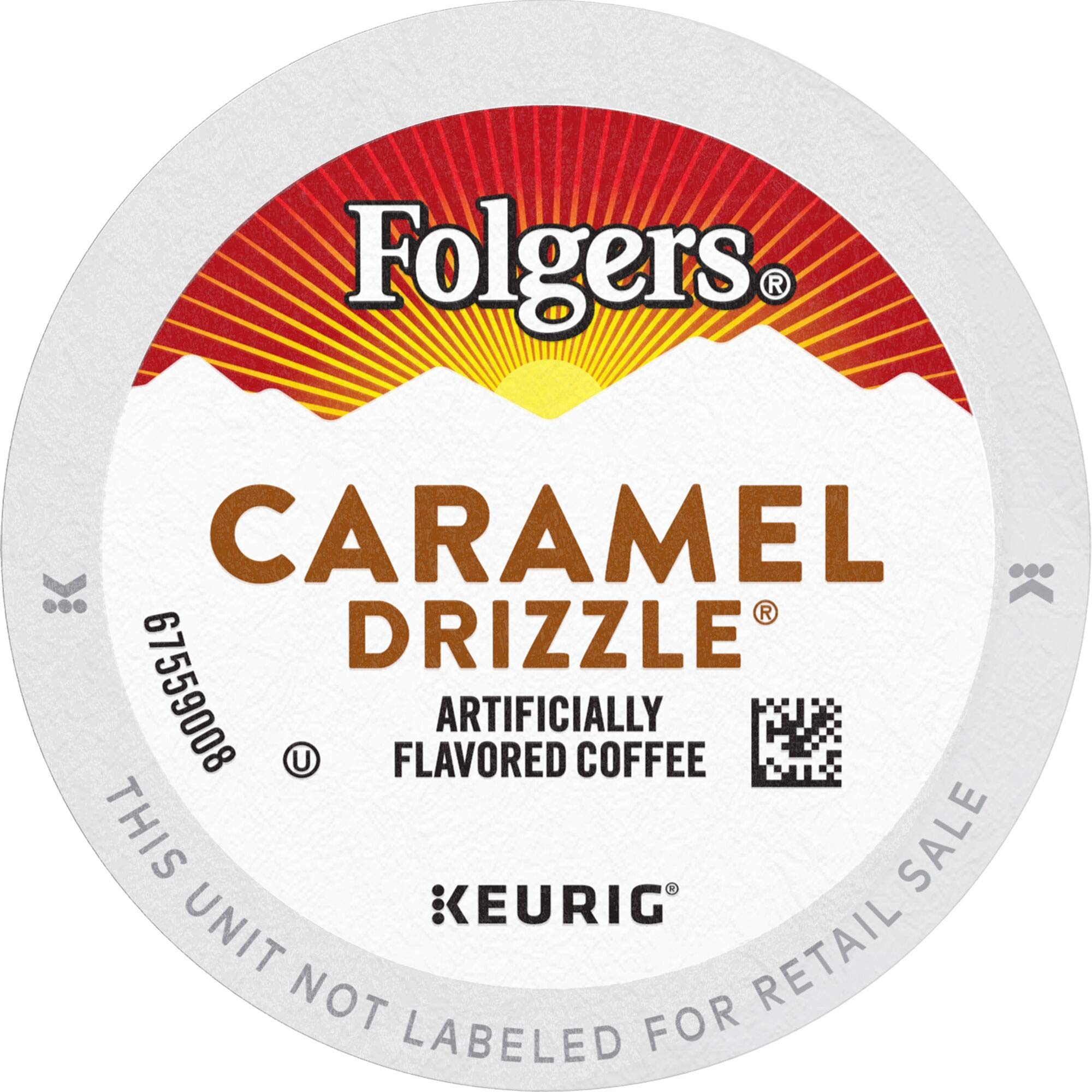 Folgers Caramel Drizzle Flavored Coffee, 24 K Cups for Keurig Coffee Makers