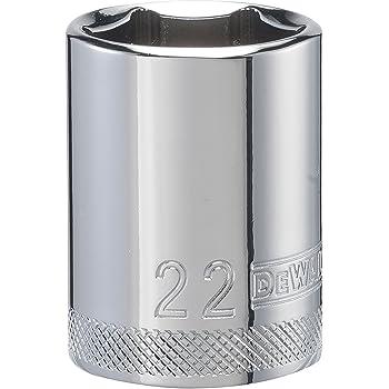 DEWALT 1//2 6 PT Standard Socket 22MM