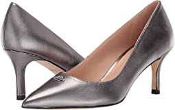 코치 올라 메탈릭 펌프스 - 건메탈 COACH Orla COH Metallic Leather Pump,Gunmetal