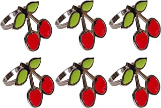DII Napkin Rings for Family Dinners, Weddings, Outdoor Parties or Everyday Use, Set of 6, Cherry