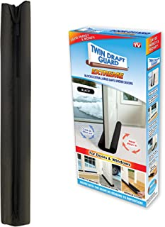Twin Draft Guard Extreme in Black - Energy Saving Under Door Draft Stop