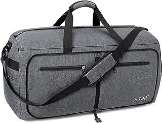 85L Large Foldable Travel Duffle Sport Gym Weekender Bag Shoe Compartment