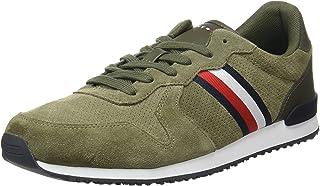 Tommy Hilfiger Herren Iconic Suede Runner Stripes Sneaker