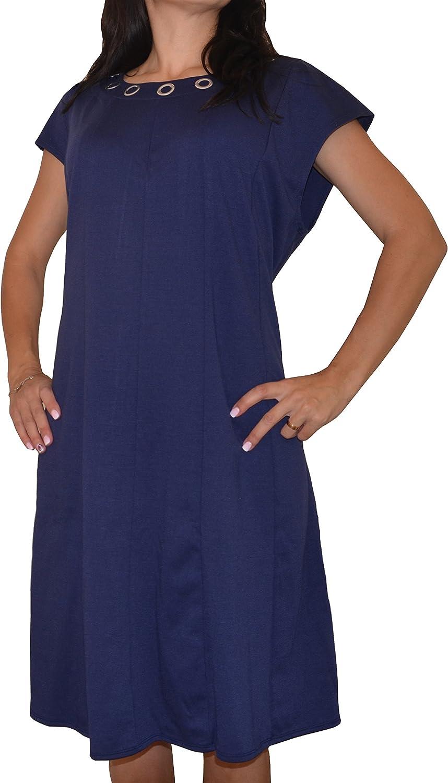 NY Collection Plus Size Grommet-Trim Fit & Flare Dress