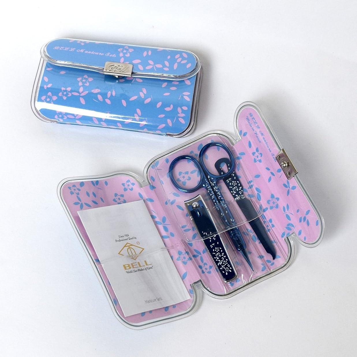 バリアストライプリーンBELL Manicure Sets BM-330F ポータブル爪の管理セット 爪切りセット 高品質のネイルケアセット高級感のある東洋画のデザイン Portable Nail Clippers Nail Care Set